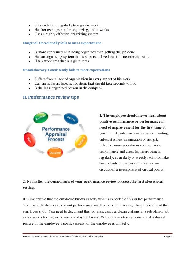 Effective phrases for performance appraisals examples