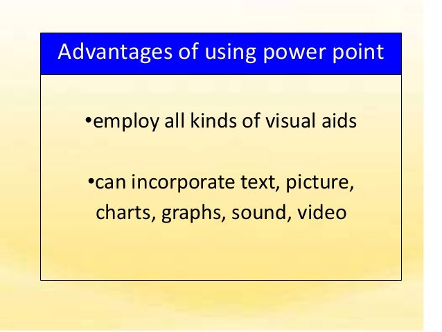 Audio/Visual Aids: Advantages and Disadvantages
