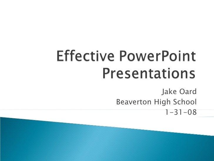 Jake Oard Beaverton High School 1-31-08