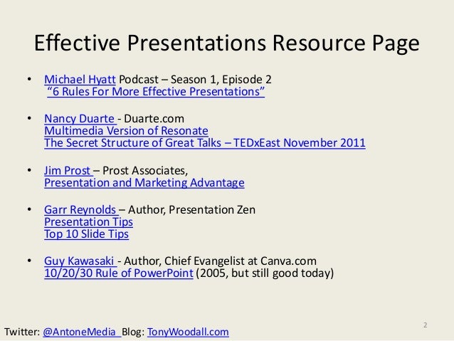antone media u0026 39 s effective presentations resource page