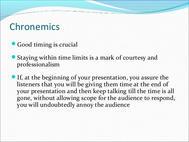 Effective Presentation Strategies Found 17 sentences matching phrase chronemic.found in 5 ms. effective presentation strategies