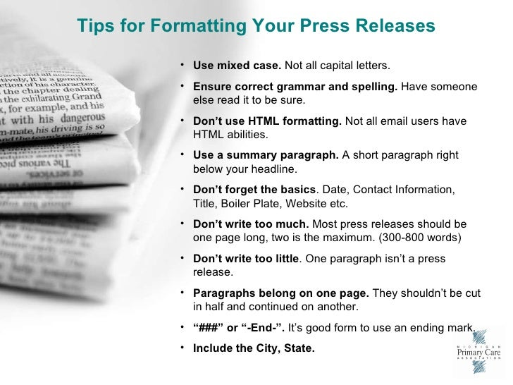 Writing effective press releases 8 tips for formatting your press releases thecheapjerseys Images