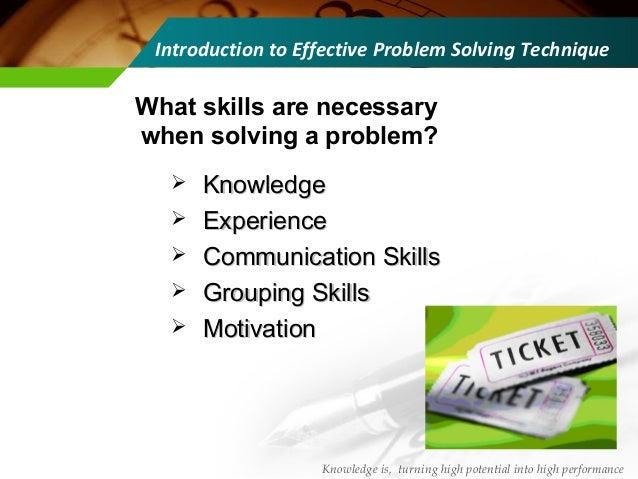 effective problem solving skills