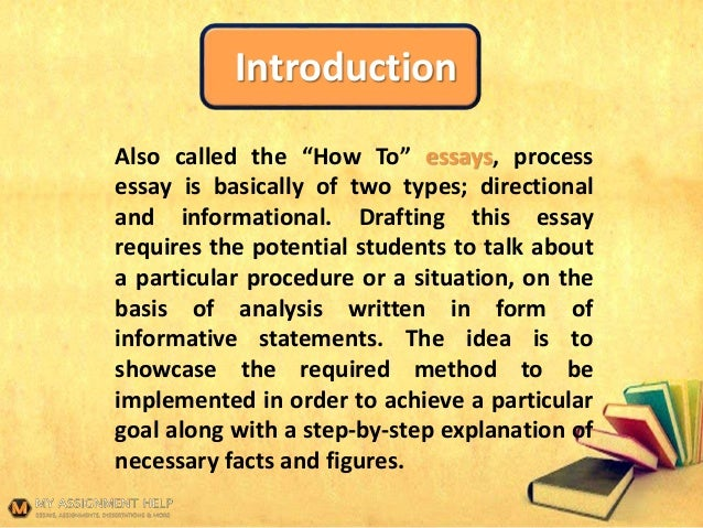 Process Essay Topics Introduction Also Called The How To Essays Process Essay Is Basically Of  Two  English Essay also Buy An Essay Paper  Brochure Writing Services