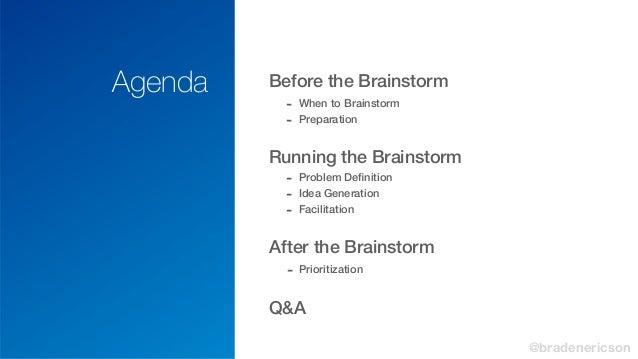 Effective Product Brainstorming Slide 3