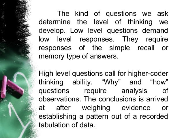 effective questioning and reacting techniques Introduction/overview effective listening and questioning techniques are two of the most powerful skills coaches use to help educators obtain knowledge, deepen.