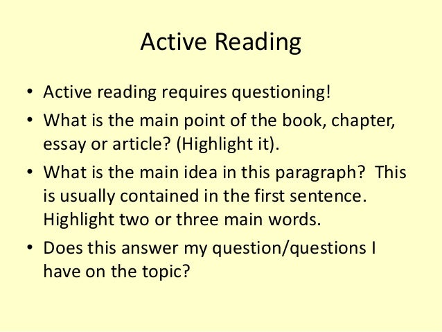 effective reading study skills 10 active reading