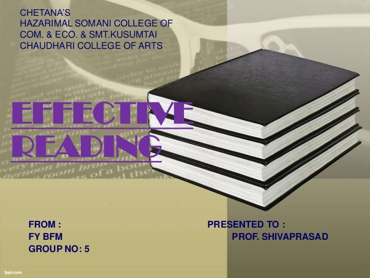 CHETANA'SHAZARIMAL SOMANI COLLEGE OFCOM. & ECO. & SMT.KUSUMTAICHAUDHARI COLLEGE OF ARTSEFFECTIVEREADING FROM :            ...