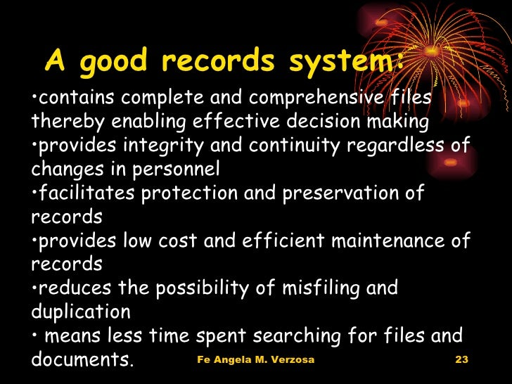 records and information management efficient and Technology for efficient government administration and management availability of information : information and communication technologies will help in maintain adequate and accurate records in our schools.