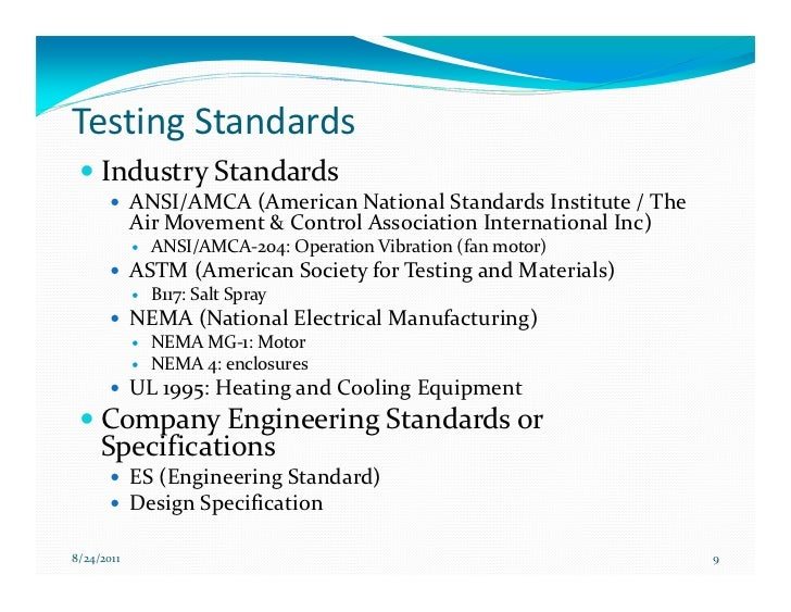 Air Movement And Control Association : Effective reliability testing to drive design improvement