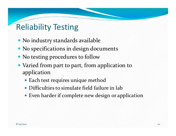 Effective Reliability Testing To Drive Design Improvement