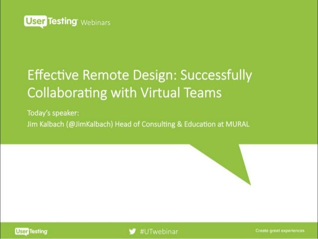 EFFECTIVE REMOTE DESIGN #remotedesign