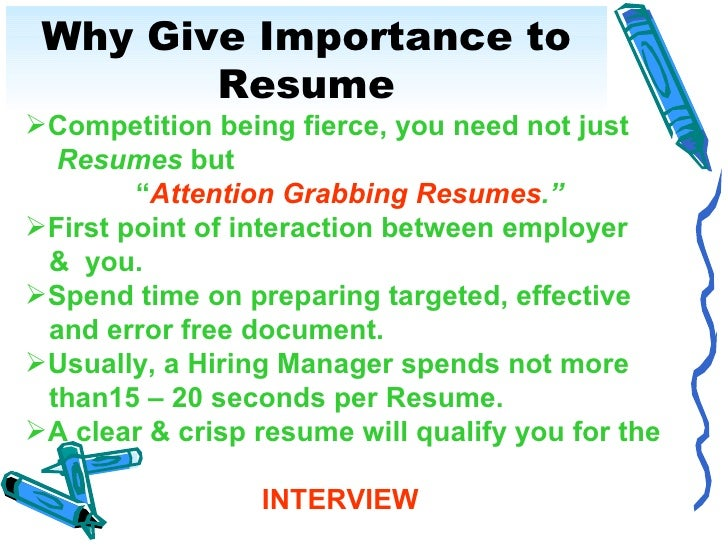 resumes writing