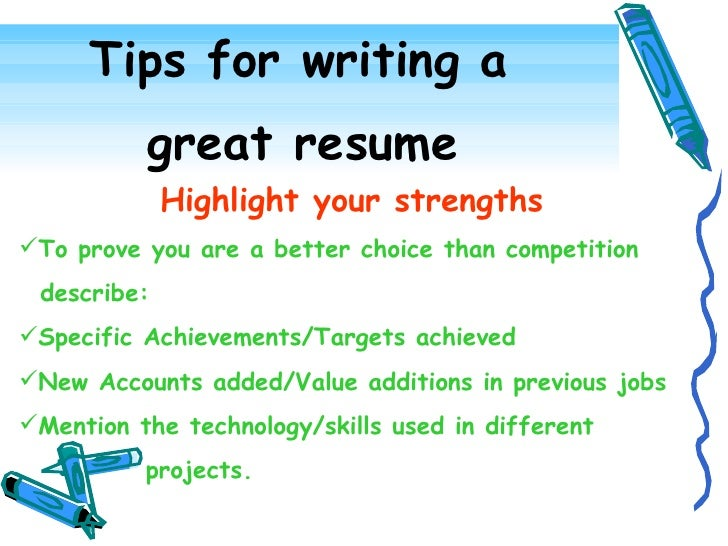 Effective Resume Writing .