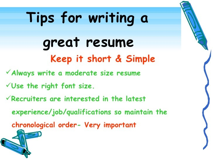 resume making tips - Tips On Writing Resume