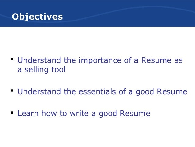 effective resume writing Resume is an influential and credible summary of an individuals employment qualifications resumes should be written not for yourself but for the reader a good resume must be properly planned, drafted and finally revised.