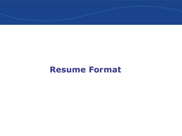 effective resume writing