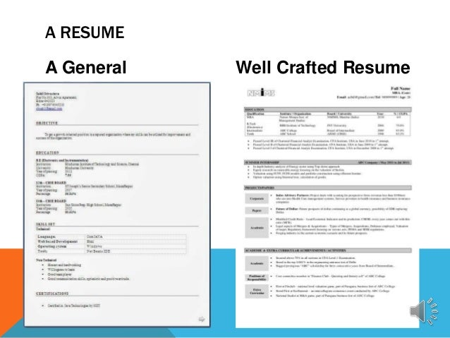 a general resume well crafted resume a resume 11