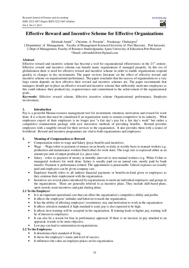 Research Journal of Finance and Accounting ISSN 2222-1697 (Paper) ISSN 2222-2847 (Online) Vol.4, No.13, 2013  www.iiste.or...