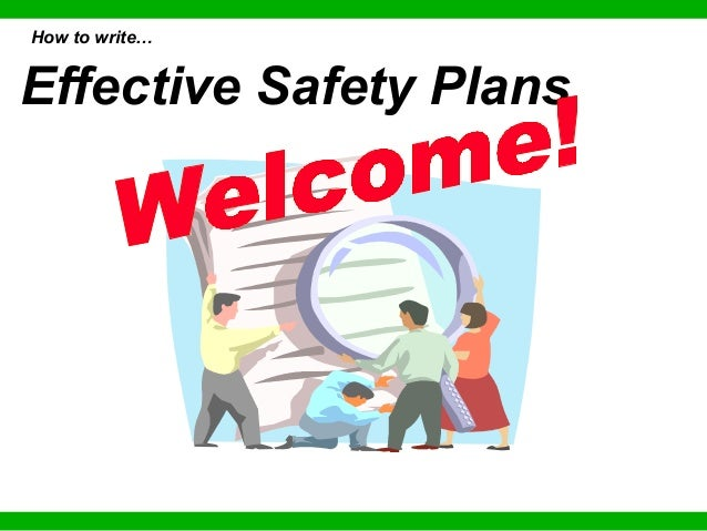 Effective Safety Plans