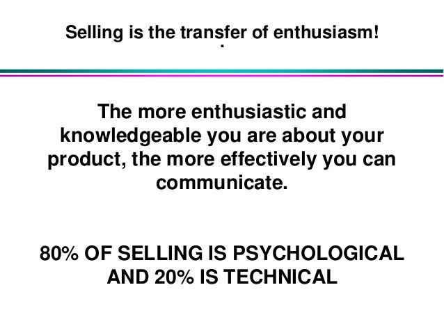Effective selling techniques