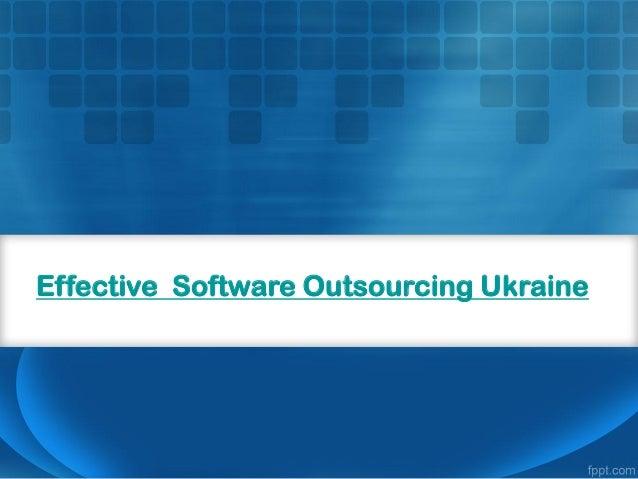 Effective Software Outsourcing Ukraine