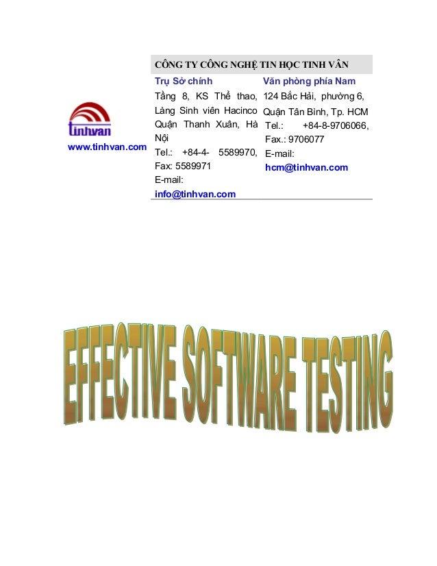 CÔNG TY CÔNG NGHỆ TIN HỌC TINH VÂN Trụ Sở chính Tầng 8, KS Thể thao, Làng Sinh viên Hacinco Quận Thanh Xuân, Hà Nội www.ti...