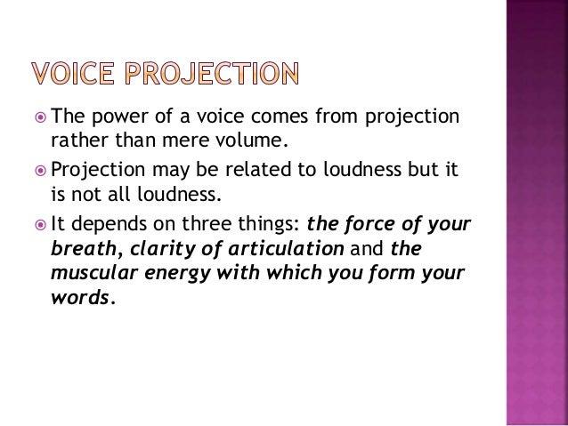 Effective speaking voice