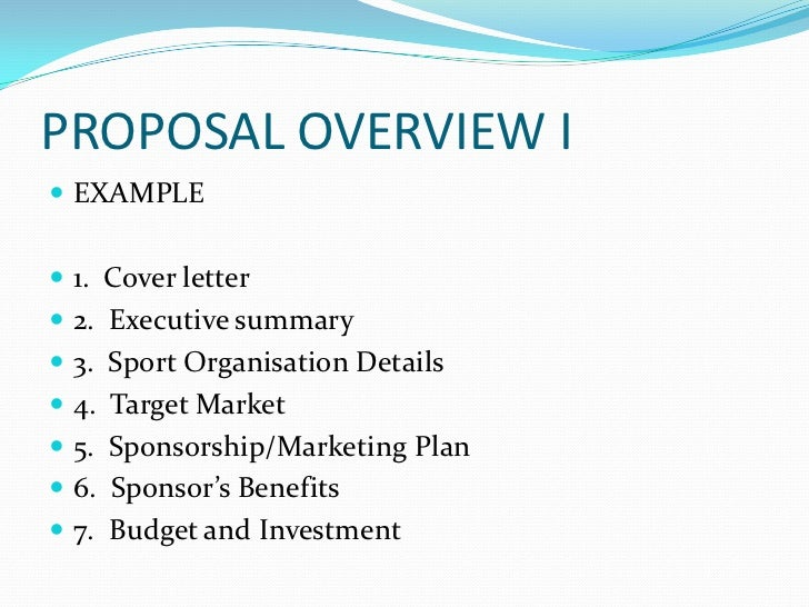 proposal - Cover Letter For Sponsorship Proposal