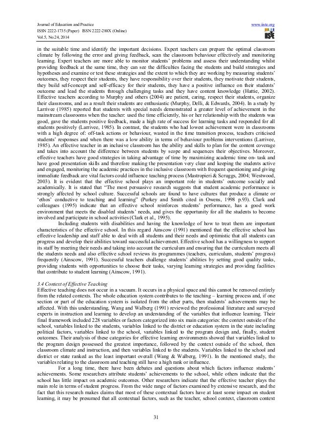 literature review on behaviour modification strategies used in classrooms essay An effect size is a metric used in meta-analyses in the context of this book, it tells you how much of a difference in behavior you can expect between classes that effectively employ a given aspect of classroom management and classes that do not.