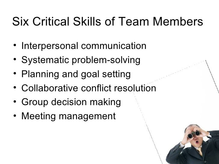effective team performance 11 define the key features of effective performance to have a team that works well and is effective you need to have strong individuals who will work well together, a mix of different people with different strengths would be a good choice, but all would need to have some basic team working skills these include the ability to support each other, have the same goals, communicate effectively.