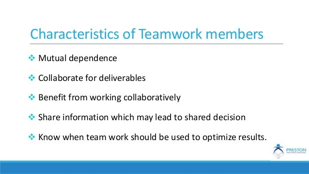 factors that lead to effective team work Audio version of teamwork skills: being an effective group member tip sheet (mp3) for small groups to function effectively in a course context, students must attend to both the climate within their group and the process by which they accomplish their tasks.