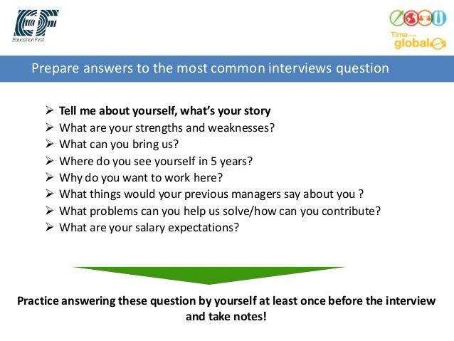 High Quality ... Interviewer; 10. Prepare Answers To The Most Common Interviews Question   Tell ...