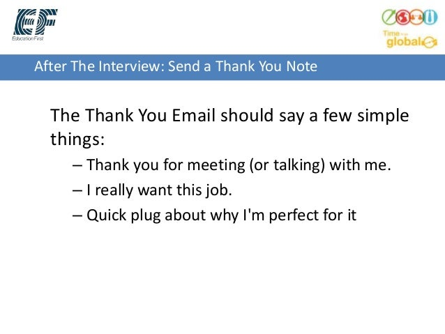 After The Interview: Send A Thank You Note ...