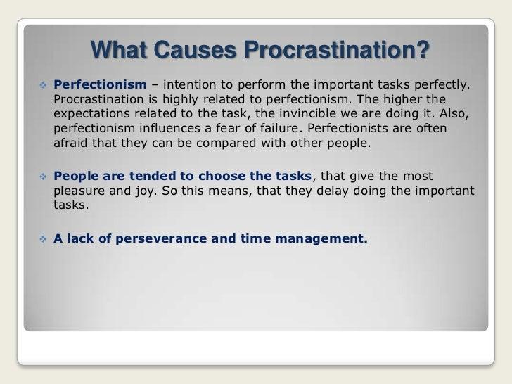 Procrastination influences stressful situations.