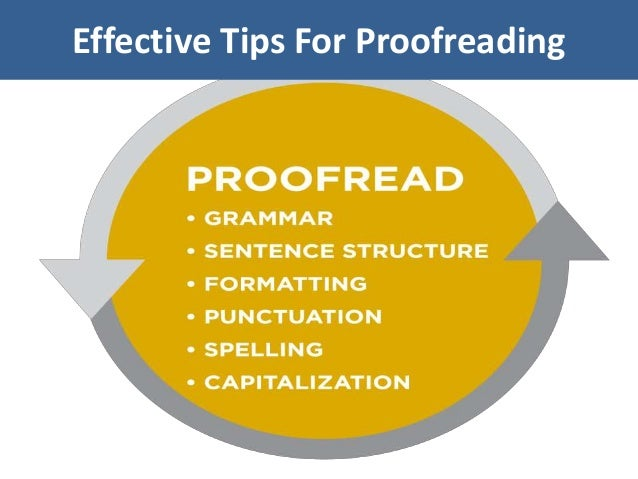 Effective Tips For Proofreading