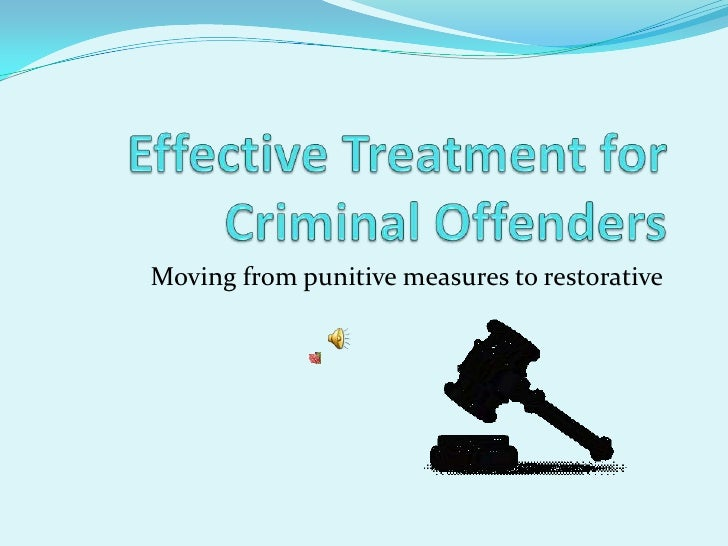Moving from punitive measures to restorative