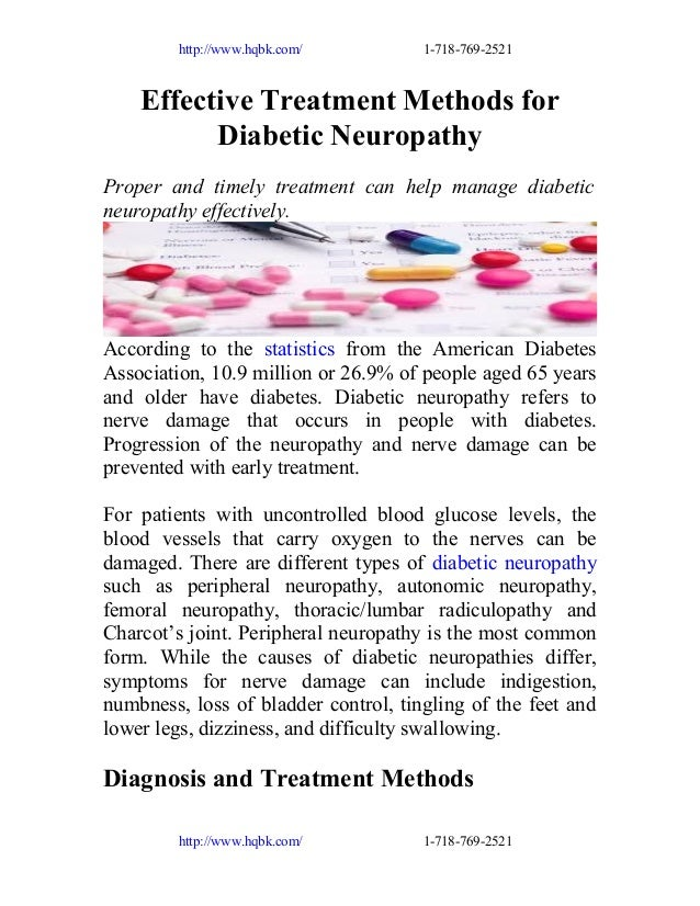 http://www.hqbk.com/  1-718-769-2521  Effective Treatment Methods for Diabetic Neuropathy Proper and timely treatment can ...