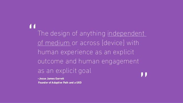 It is so much more than just designing for a screen. The user experience is impacted by decisions made across an organizat...
