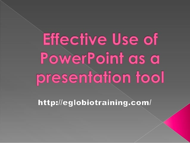 Ten Thoughts AboutHow to Use PowerPoint      Effectively
