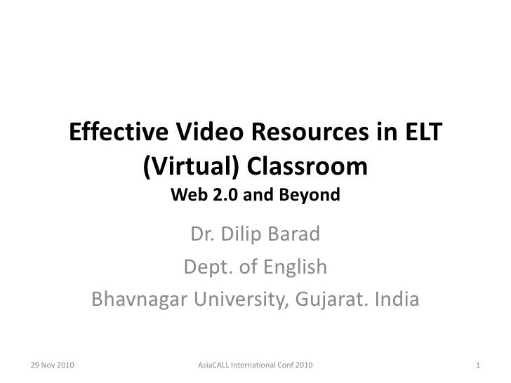 Effective video resources in elt (virtual) classroom