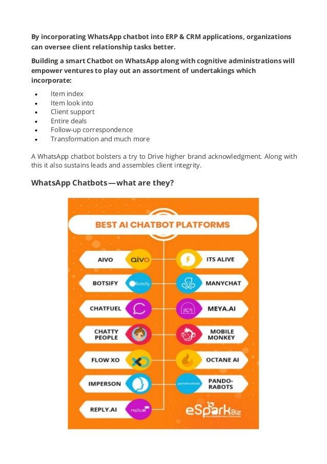 Effective ways to create whatsapp chatbot