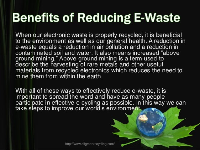 suggestions to reduce e waste