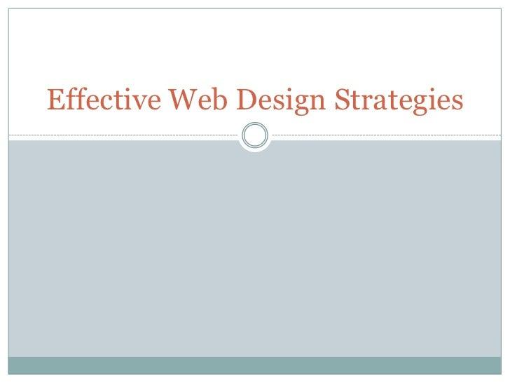 Effective Web Design Strategies