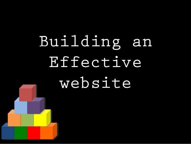 Building an Effective website