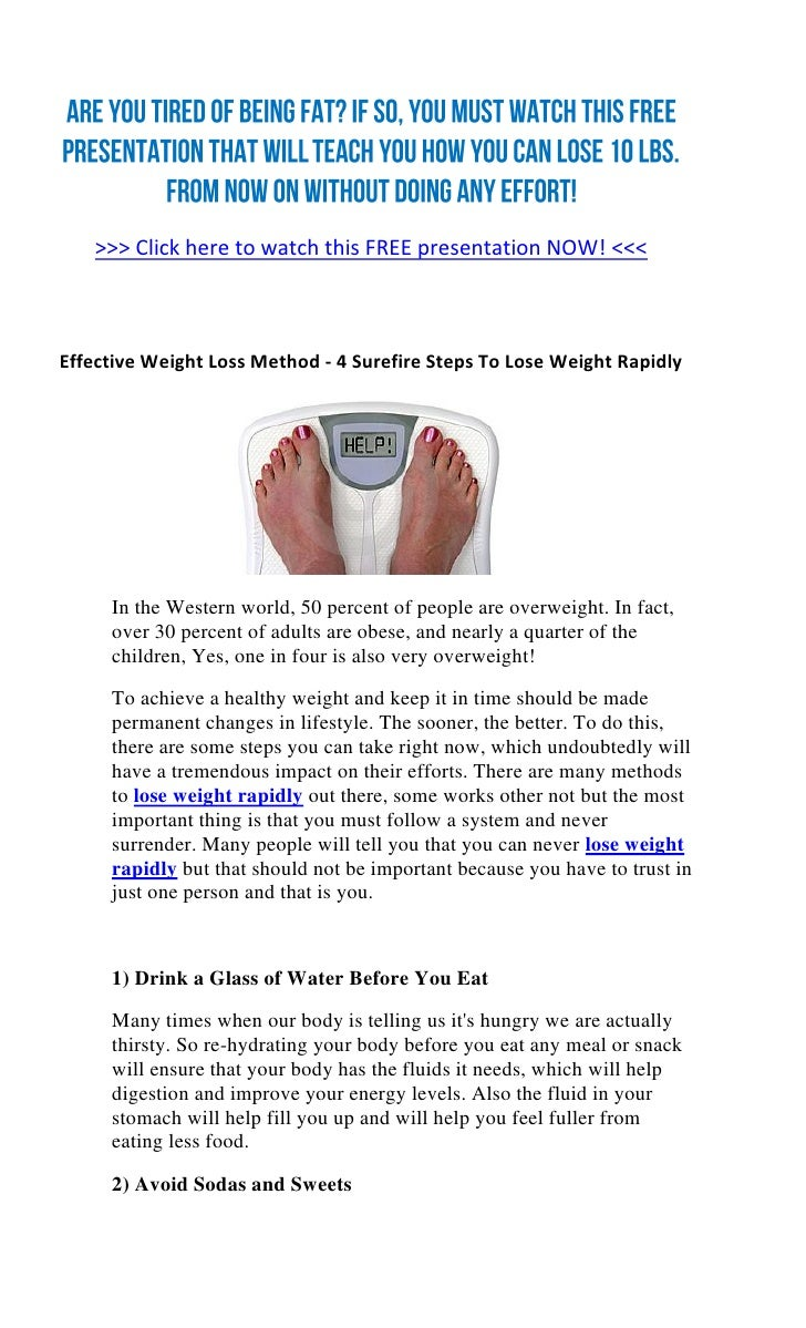 Two methods of losing weight
