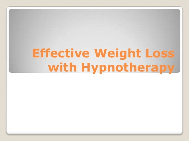 Effective Weight Loss with Hypnotherapy