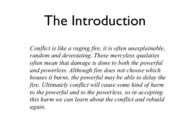 encountering conflict essay introduction Catholic resources on encountering conflict essay a separation the web how to write a good introduction and conclusion for an essay search for.