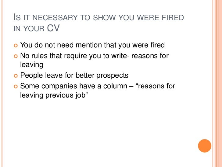 reason for leaving previous job