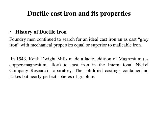 Effect of austemperig on ductile iron